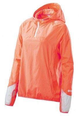 Bunda SKINS PLUS Odyssey Womens Packable Jacket - Atomic Tangerine
