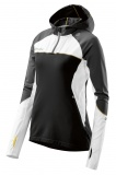 SKINS PLUS Orion Womens Long Sleeve Hoodie - Black/Cloud