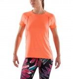 Tričko SKINS PLUS Phoenix Womens Fitted Tee - Atomic Tangerine