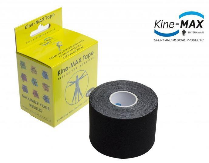 KineMAX SuperPro Cotton Tape - černý, 5cmx5m