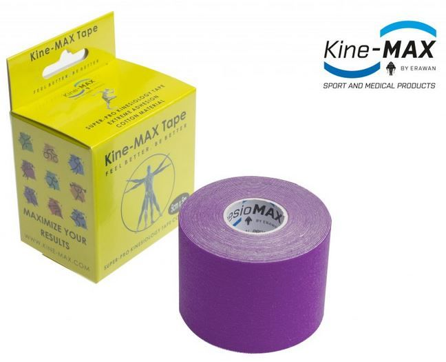 KineMAX SuperPro Cotton Tape - fialový, 5cmx5m