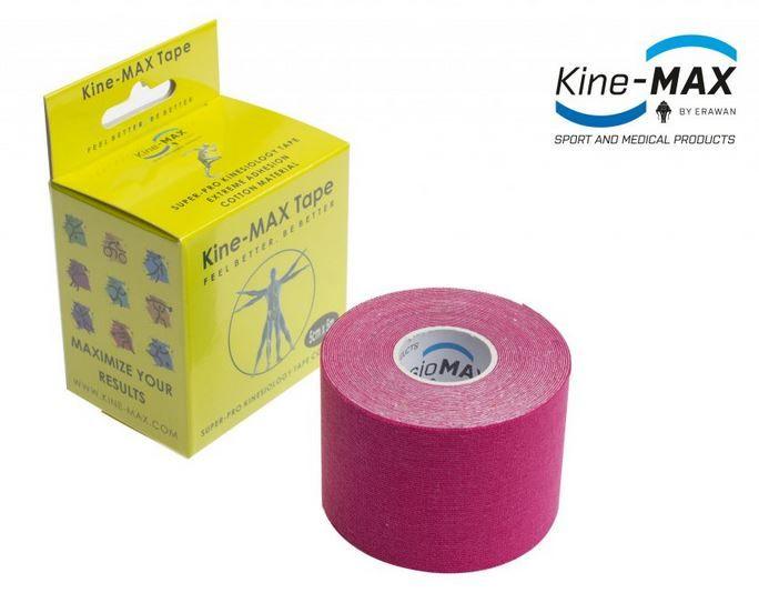 KineMAX SuperPro Cotton Tape - růžový, 5cmx5m