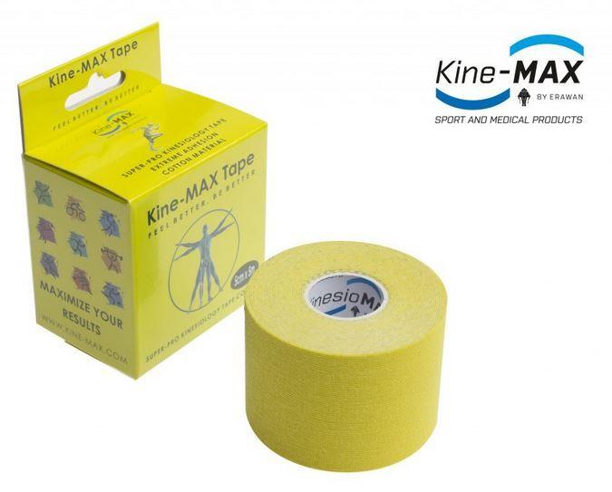 KineMAX SuperPro Cotton Tape - žlutý, 5cmx5m