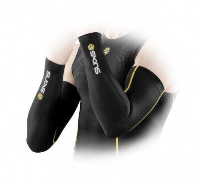 Kompresní prádlo SKINS Essentials Sleeves - Black/Yellow ( kompresní návleky na ruce)