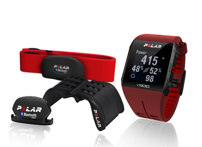 Sporttester POLAR V800 GPS Cycling pack Special edition HR, Red