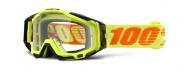 MX brýle 100% RaceCraft - Attack Yellow/Clear (čirá skla)