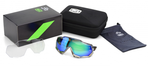 Brýle 100% SpeedTrap Peter Sagan Chromium Gunmetal/Green Multilayer Mirror