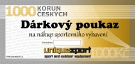 UniqueSport dárkový poukaz, 1000Kč