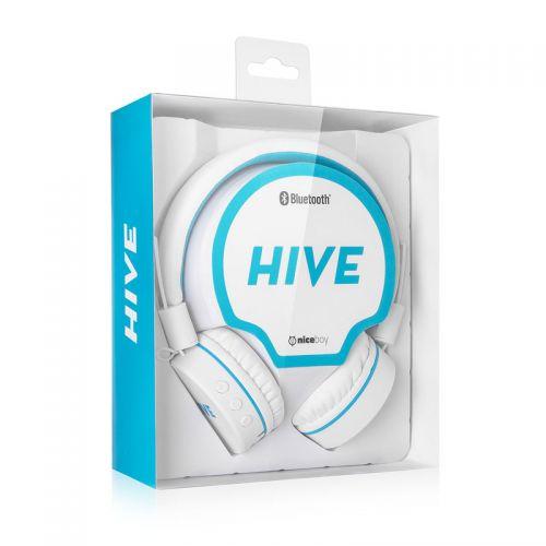 Bluetooth sluchátka NICEBOY Hive, bílá