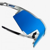 100% SpeedCraft LL - Matte White/HiPer Blue Multilayer Mirror