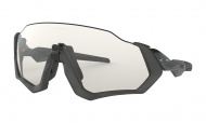 OAKLEY Flight Jacket - Steel Gray Ink W/Clear Black Iridium Photochromic