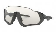 OAKLEY Flight Jacket - Steel Gray Ink W/Clear Black Iridium Photochromic