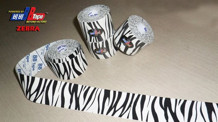 BB Tape s designem zebry - 5cmx5m