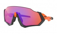 OAKLEY Flight Jacket - Matte Black Orange W/Prizm Trail