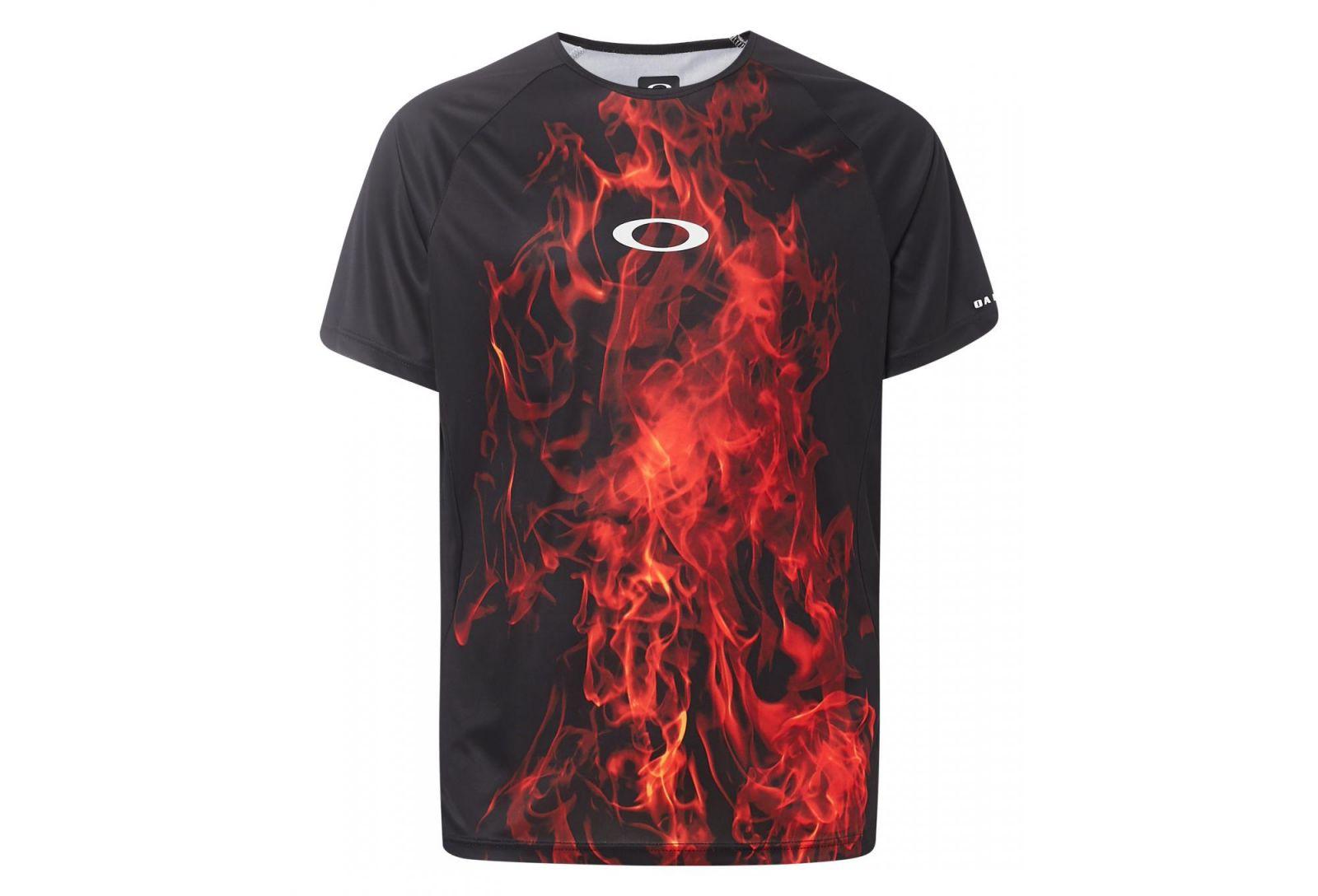 Sportovní triko OAKLEY MTB SS Tech Tee, Flames
