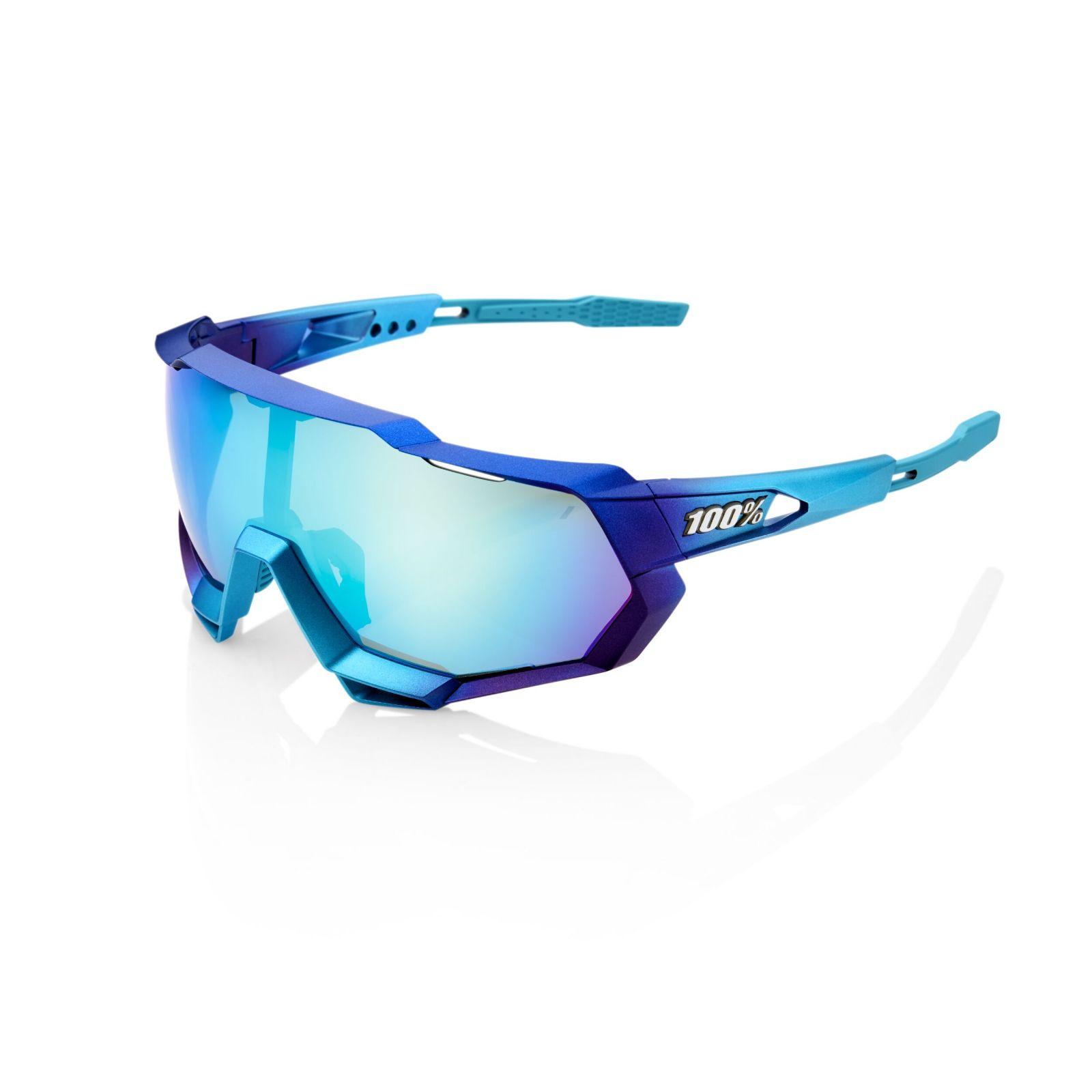 Brýle 100% SpeedTrap Matte Metalic into the Fade/Blue Topaz Multilayer Mirror Lens, 61023-390-69