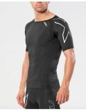 2XU Elite kompresní tričko pánské, Black/Silver