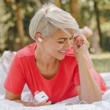 Bluetooth sluchátka NICEBOY Hive Podsie bluetooth sluchátka, bílá