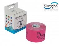 Kine-MAX Happy Tape s obrázky, růžový