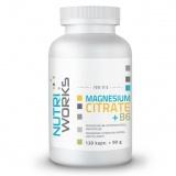 NutriWorks Magnesium Citrate + B6, 120 kapslí