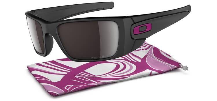Brýle OAKLEY Fuel Cell - Breast Cancer Matte Black W/Black Iridium Polarized