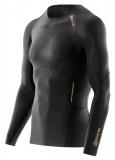 SKINS A400 GOLD Mens Long Sleeve Top - Black