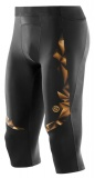 SKINS A400 GOLD Mens 3/4 Tights - Black/Gold