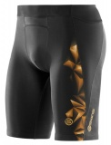 SKINS A400 GOLD Mens Half Tights - Black