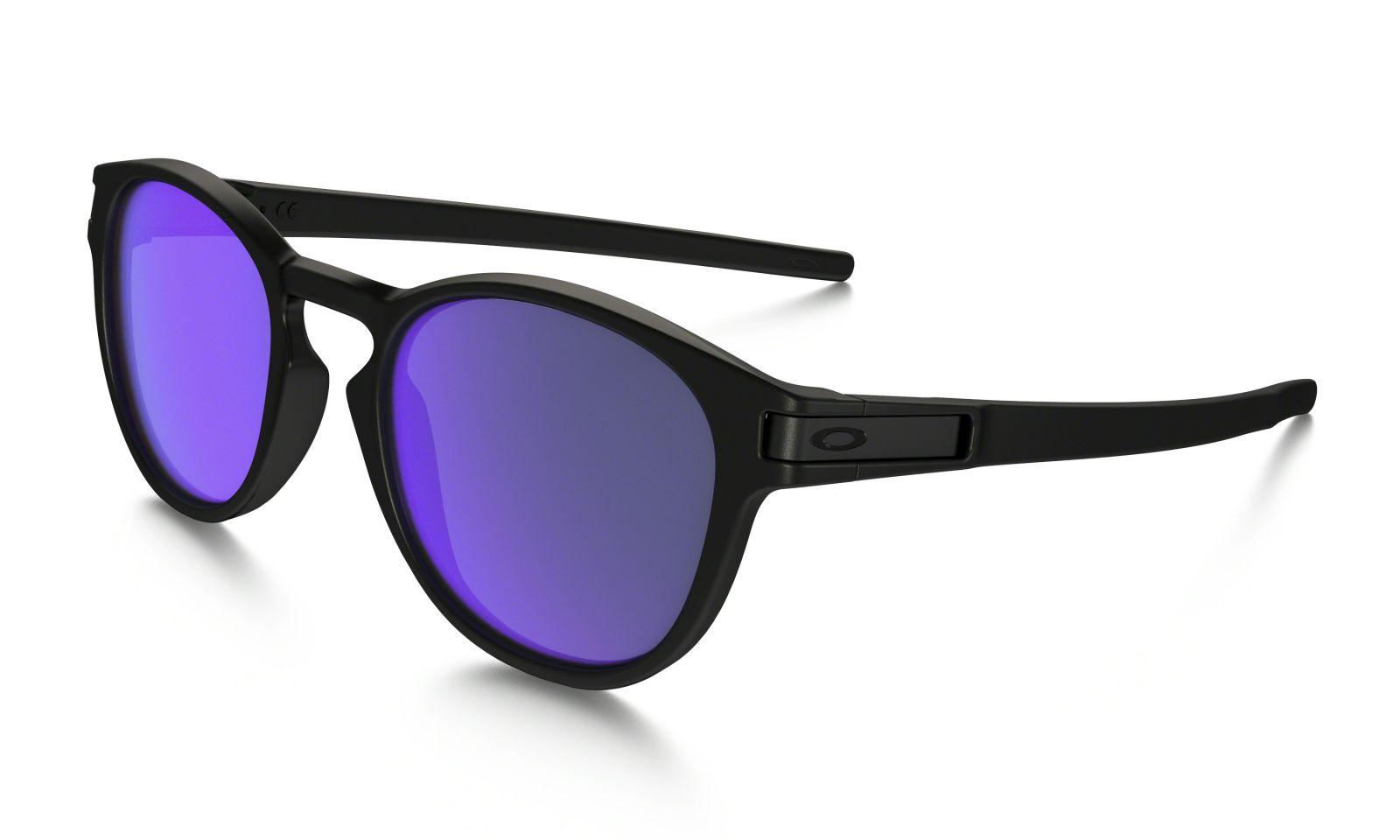 Brýle Oakley Latch - Matte Black/Violet Iridium