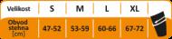 Velikostní tabulka kompresních návleků Royal Bay Extreme