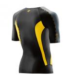 SKINS DNAmic Mens Short Sleeve Top - Black/Citron