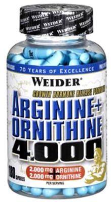 Weider, Arginine + Ortnithine 4.000, 180 kapslí