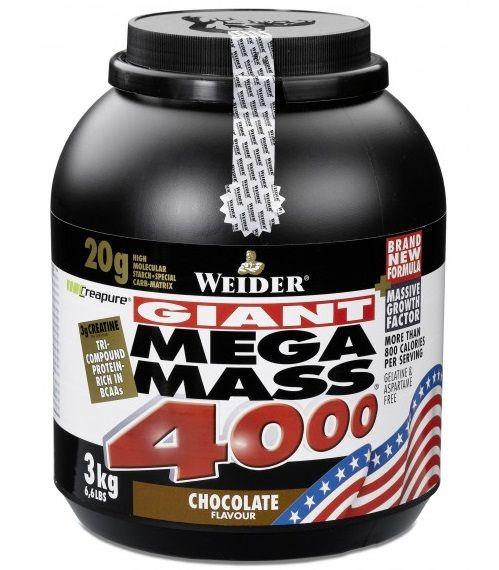 Weider, Giant Mega Mass 4000, Gainer, 3000g