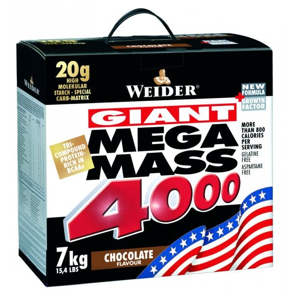 Weider, Giant Mega Mass 4000, Gainer, 7000g