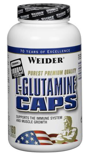 Weider, L-Glutamine Caps, 160 kps